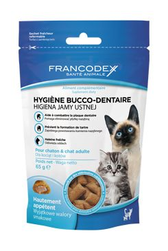 Francodex Pochoutka Breath Dental kočka 65g