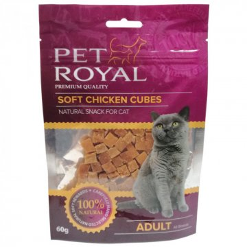 Pet Royal Cat kostky kure & kreveta 5x60g