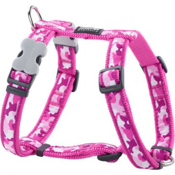 Postroj RD 25 mm x 56-80 cm - Camouflage Hot Pink
