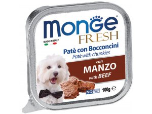 MONGE FRESH Dog hovězí 100g/32ks